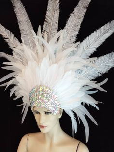 Diy Carnival, Carnival Outfits, Carnival Costumes, Fairy Costumes, Mardi Gras Outfits, Mardi Gras Costumes, Fantasy Hair, Fantasy Makeup, Types Of Feathers