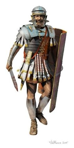 A Roman Legionary's Armor and Weapons