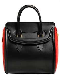 a5ed086557b2 ALEXANDER MCQUEEN - LARGE HEROINE LEATHER   SUEDE TOTE BAG