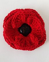 Free - Button Poppy Flower crochet pattern // by Maggie's Crochet Crochet Buttons, Knit Or Crochet, Crochet Crafts, Crochet Projects, Crochet Hooks, Crochet Puff Flower, Crochet Flower Patterns, Knitting Patterns, Knitted Poppies
