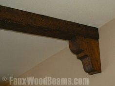 Polyurethane corbels can be used to touch up the ends of ceiling beams.