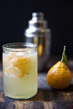 Satsuma Cobbler: St. Germain, Satsuma + Prosecco #drinks #alcohol #cocktail #recipe