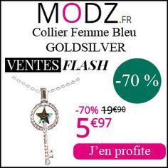#missbonreduction; Vente Flash : 70 % de réduction sur le Collier Femme Bleu GOLDSILVER chez MODZ.http://www.miss-bon-reduction.fr//details-bon-reduction-MODZ-i852315-c1831039.html