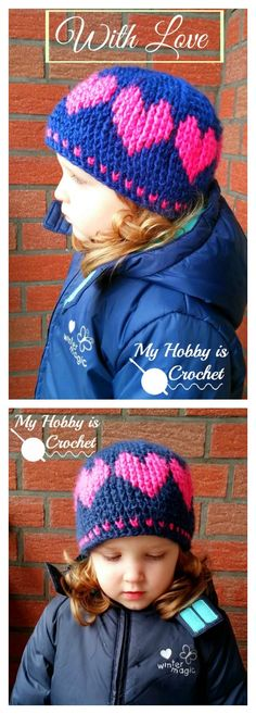 Crochet Heart Hat Free Pattern