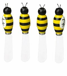 Boston Warehouse Busy Bees Bumblebee Spreader Set of 4 by Boston Warehouse. $11.88. Stainless steel blades. Set of 4. Measure approx 5 inches long. Hand painted bumble bee handles. Gift Boxed. Boston Warehouse Busy Bees Bumblebee Spreader Set of 4. Save 30%!