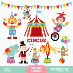 Circus Digital Clipart, Carnival Clip Art, Animal Circus Clip Art         January 27, 2015 at 01:32PM