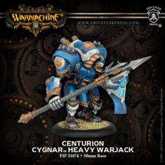 Centurion #WARMACHINE #Cygnar #PrivateerPress #warjack #miniatures #wargames #steampunk