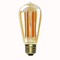 Edison-Mills ST21 / ST58 Vintage LED Filament Lamp 6W - 60 Watt Equal - 2200K - 480 Lumens - Dimmable from Edison-Mills