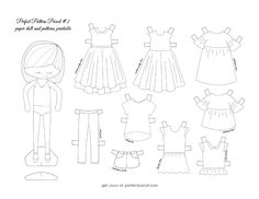 free printable paper dolls || imagine gnats
