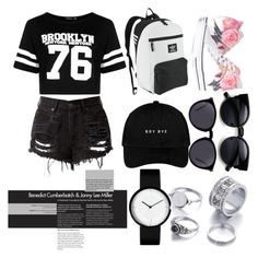 """""""day out"""" by beautyyb ❤ liked on Polyvore featuring Boohoo, Converse, adidas Originals and Yves Saint Laurent"""