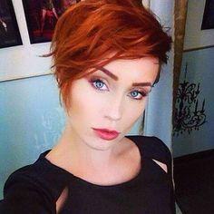 Cute red pixe