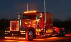 Peterbilt Trucks-Trick-My-Truck chrome shop Big Rig Trucks, Show Trucks, Peterbilt 379, Peterbilt Trucks, Custom Big Rigs, Custom Trucks, Semi Truck Accessories, Led Lights For Trucks, Diesel Trucks