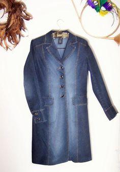 NWOT Jacob Women's Blue Cotton Blend  Coat Size 10  #Jacob #BasicCoat