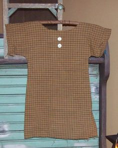 Primitive dress... a cute accessory pinned on a drying rack, dangling from a washboard, etc....