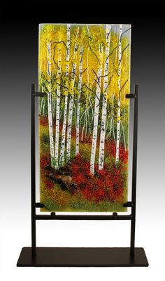 Scramble up the slope to find Aspens galore, Fused Glass, Stained Glass, Art Studios, Aspen, Landscapes, Art Gallery, Trees, Interior, Nature