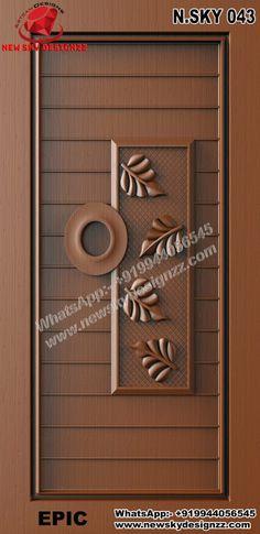House Main Door Design, Wooden Main Door Design, Modern Exterior Doors, Room Doors, Interior Modern, Entrance Doors, Wooden Doors, Columns, Cnc