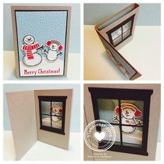 Stamp · Pray · Love: Snow Place Diorama Card