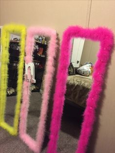 Mirrors made by me! Quick diy project to brighten up any girls bedroom
