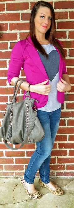 Outfit of the Day: Casual in Pink Spots