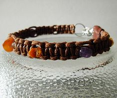 Holistic dog collar necklace - Amethyst, carnelian, raw Baltic Amber - Fleas and Ticks natural repellent Crystals And Gemstones, Natural Gemstones, Flea And Tick, Baltic Amber, Ticks, Carnelian, Pet Accessories, Collar Necklace, Love And Light