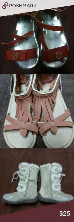 Mk&Bebe Toddler Sandals and Polo boots Mk&Bebe Toddler Sandals and Polo boots.                    Size 8-10.Used in good condition. Shoes Sandals & Flip Flops