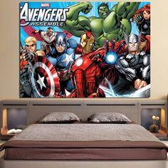 Avengers Comic Assemble 3D Printed Avengers Canvas