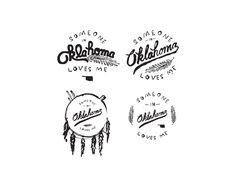 Some of the first concepts for a boutique in Oklahoma City. The olive branch looking thing was later changed for a more detailed wheat stalk (of course).