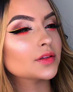 Edgy Makeup, Makeup Eye Looks, Basic Makeup, Eye Makeup Art, Cute Makeup, Beauty Makeup, Makeup Trends, Makeup Inspo, Makeup Inspiration
