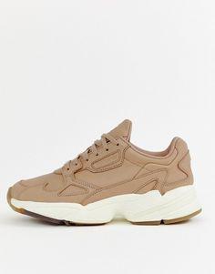 best sneakers 384c3 56871 adidas Originals   adidas Orignals Premium Leather Falcon sneakers in beige  Beige Sneakers, Air Max