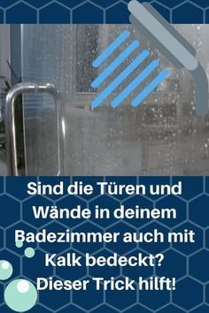 Endlich keinen Kalk mehr im Badezimmer! Sicherlich hattest du auch schon mal Kal… Finally no lime in the bathroom! Surely you also had limescale in. Clean Out, Glass Shelves In Bathroom, Living Room Built Ins, Wd 40, Shower Cubicles, Bathroom Cleaning Hacks, Wood Joinery, Dremel, Cool Furniture