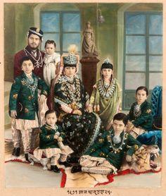 Indian Royalty Family Portrait  via