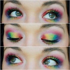 Agape Love Designs: Rainbow Eyes - Clown Doll Look