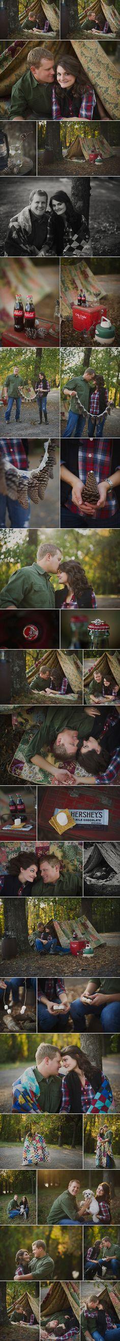 Camping Engagement shoot! LOVVVVVVVVVE it!!