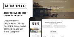 Memento - One Page and Multi Page WordPress Theme With WooCommerce - A Creative Shop Theme - http://gumbum.com/product/memento-one-page-and-multi-page-wordpress-theme-with-woocommerce-a-creative-shop-theme/
