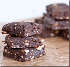 Raw Salted Almond Brownies....someday I will eat these...