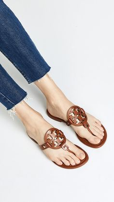 Tory Burch Miller Flip Flops | SHOPBOP Tory Burch Flip Flops, Tory Burch Sandals, Cute Sandals, Stylish Sandals, Sexy Sandals, Women Sandals, Flat Sandals, Jelly Shoes, Flip Flop Shoes