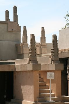 Chapter 22: Exterior of the Hollyhock House in Los Angeles, California. Architect, Frank Lloyd Wright
