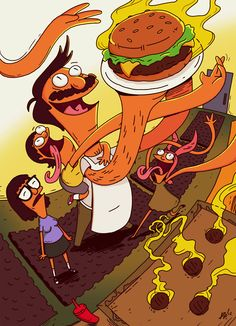 Issues comes out in August! Cover art by: DVO! Bobs Burgers Comic Book Cover A P Belcher Family, Midtown Comics, Bobs Burgers, American Dad, New Poster, Poster Wall, Comic Covers, Book Covers, A Comics
