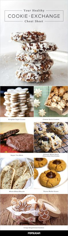 From chocolate to peanut butter with plenty of seasonal spices thrown in, here are 12 healthy cookies to enjoy this holiday season.