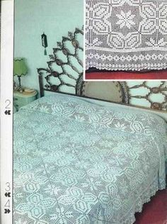 """""""Fit for a Queen"""" bedspread ♥LCB♥ with diagram."""