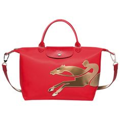 chinese new year 2014 - year of the horse - longchamp red handbag copy -  handbag. Year of the Horse Le Pliage bag 72542dab571