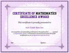 Certificate of excellence template for ms word download at http mathematics excellence award certificate template for ms word download at httpcertificatesinn yadclub Image collections