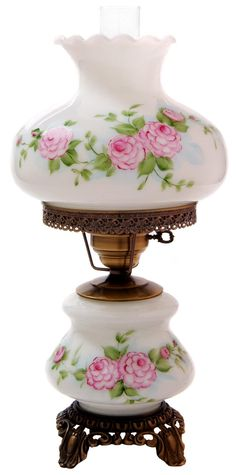Pink Red Roses Medium Hurricane Night Light Table Lamp - I had a lamp very similar to this as a little girl. If I have a little girl one day I will be looking for one of these for her room.