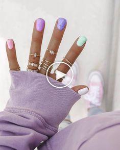nails, nail art, pastel nails past… Cute Acrylic Nails, Cute Nails, Pastel Nail, Party Nails, Chrome Nails, Stylish Nails, Nail Trends, Nail Tips, Nail Ideas