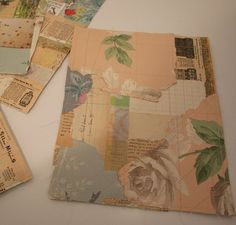 Reduce your paper scraps by making beautiful sewn pages... by Patty Van Dorin at ramblingrose.typepad.com