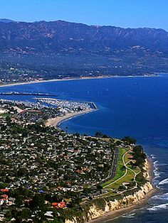 Santa Barbara, CA.  Again, never been there, but it looks pretty.  I'm sensing a theme here - I like places where there are mountains close to the ocean!