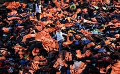 In Greece, volunteers upcycle refugee life jackets, boats