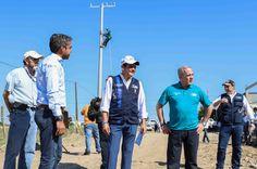 SupervisaEnrique Rivas obras de pavimentación y electrificación