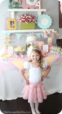 beautiful fairy themed birthday party