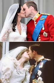 royal family ; princess diana looks more eager/engaged in the kiss.